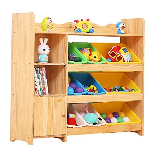 Meubles Bibliothèque en bois pour enfants Etagère de rangement pour jouets Étagère pour bandes dessinées Étagère pour chambre de bébé, armoire de rangement pour vêtements Maman organise la salle de fi