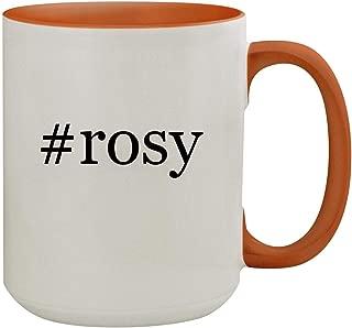 #rosy - 15oz Hashtag Colored Inner & Handle Ceramic Coffee Mug, Orange
