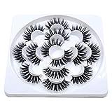 7 Pairs Mink Hair 3D 5D Lashes Dramatic Makeup Strip Eyelashes 100% Siberian Fur Fake Eyelashes Hand-made False Eyelashes (5D86)