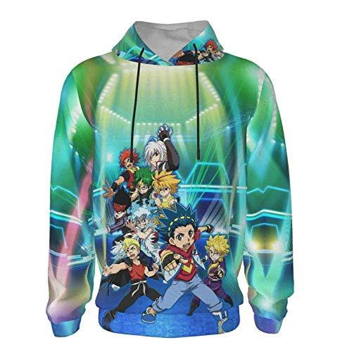 JHBKZS Beybl-Ade Burst Evolution Fashionable Teenagers Teen Hooded Sweatshirt 7-20 Years Old for Boys & Girls