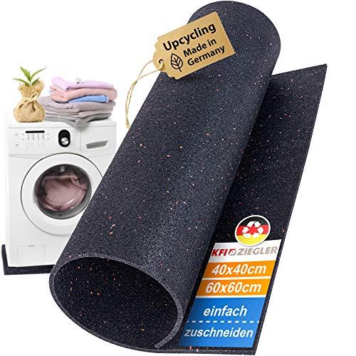 Antivibrationsmatte Waschmaschine Made in Germany | Leicht zuschneidbare geruchsneutrale Antirutschmatte | Größe 40x40x0,6cm | Die Umweltfreundliche Rubber Mat