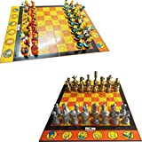 Yxxc Game Board Trave Chess Set Doll Chess, HH-End Decoration Chess Set, Cartoon Doll Chess, for Children, Students and Children Chess,C