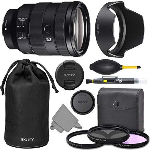 Sony FE 24-105mm f/4 G OSS Lens (SEL24105G) with AOM Pro Kit Combo Bundle - International Version