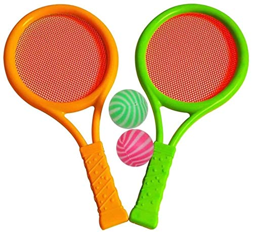 RENFEIYUAN Juego de Tenis Deportivos Tenis Aprendizaje Práctica Raqueta Juego Padre Infantil Interactivo Físico Educativo Juguete para niños Adultos (Color al Azar) Badminton Raqueta