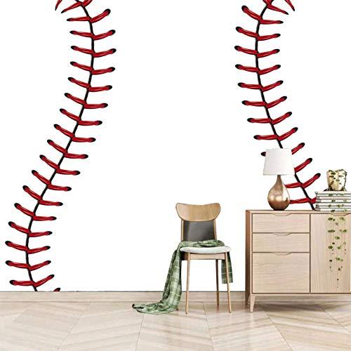 HDEOFR Fototapete 3D Effekt Sport Weißer Baseball Wandtapete 200X140cm Fototapete Selbstklebend Wandbilder Wanddeko Moderne Art Poster Wohnzimmer Kinderzimmer Büro Wandtattoo Wandgemälde