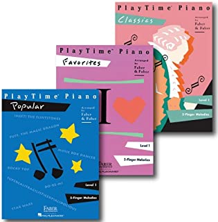 Playtime Piano Pack - Level 1 - Three Book Set - Includes Classics, Favorites and Popular - Piano Adventures Supplementary...