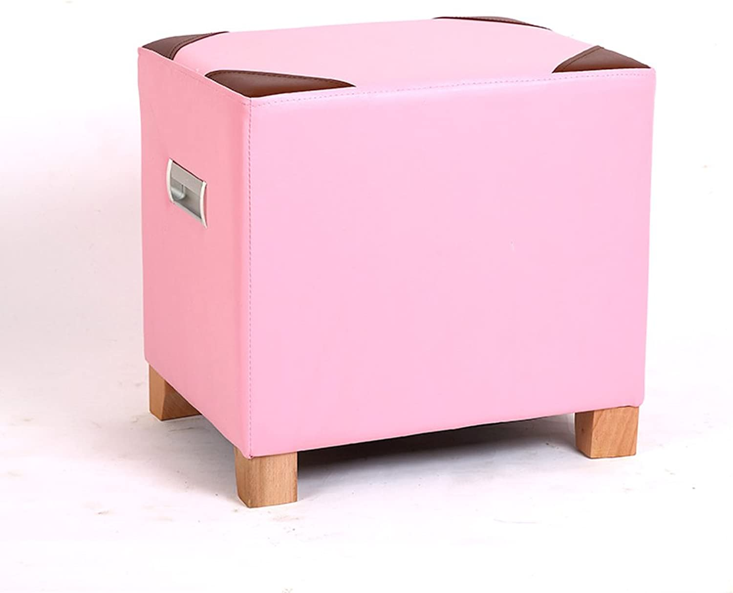 Simple and Modern shoes Bench Fashion Sofa Stool Footstool Living Room Coffee Table Stool (color   Pink)