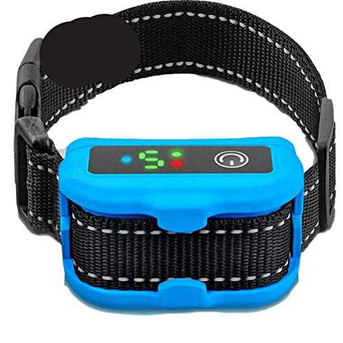 Smart Bark Collar for Large & Small Dogs - Rechargeable Microprocessor with 5 Anti-Barking Detection Modes - Upgraded Technology with Beep/Vibration for All Breeds - Durable Waterproof Design