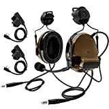 TAC-Sky COMTA III Dual Comm Headset,Tactical Headset, Accessory Rail Connector for Airsoft...