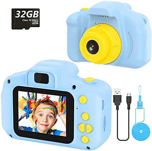 voltenick Cámara para Niños Infantil Cámara de Fotos Digital Cámara Juguete para Niños 2 Pulgadas 12MP 1080P HD Cámara Regalos Ideales para Niños Niñas de 3-10 Años con Tarjeta TF 32 GB