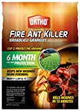 Ortho Fire Ant Killer Broadcast Granules: Treats up to 5,000 sq. ft, Prevent New Mounds from...