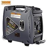 TACKLIFE Generador Electrico Gasolina, 2000W Generador Inversor Portátil Silencioso,...
