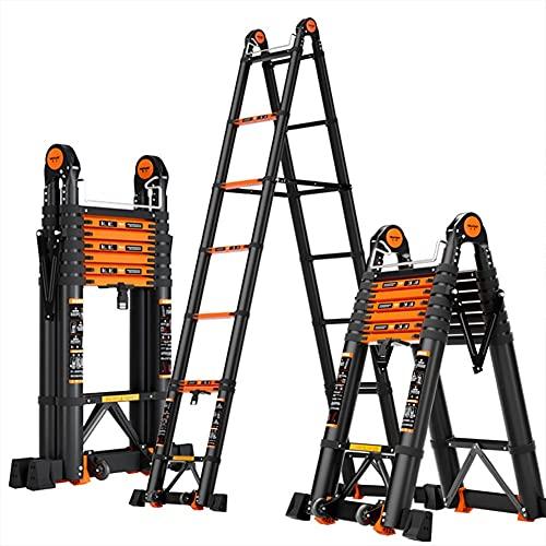 LIUCHUNYANSH Escalera De Aluminio Multifuncional,Escalera Telescópica, Escaleras Escamoteables, Carga Máxima 150kg,Multiusos (Size : Herringbone Ladder 1.5+1.5m)
