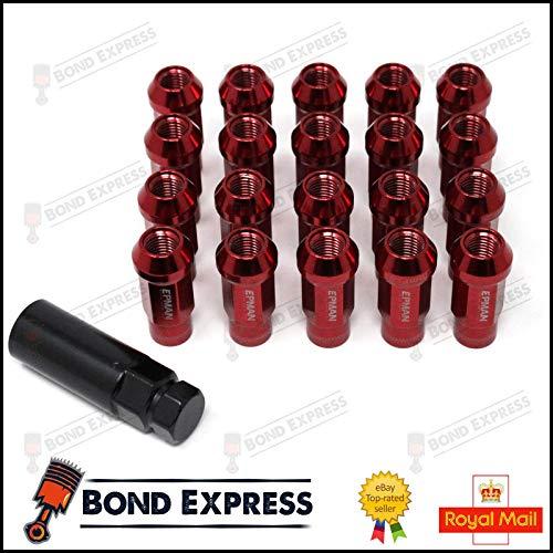 Epman Racing Stahl Lug Nuts, M12x 1,5–Rot