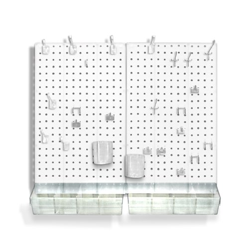 Azar Displays 70-PIECE PEGBOARD ORGANIZER KIT (2-13.5' X 22')