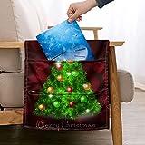 JBNJV Bolsa de Almacenamiento Colgante para reposabrazos de árbol de Navidad para sofá, Organizador de Almacenamiento Junto a la Cama con 5 Bolsillos de Gran Capacidad, Bolsa de Control Remoto Bol