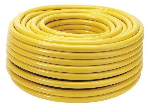 Alésage 12 mm x 50 m Heavy Duty Tuyau d'arrosage – tuyau en PVC robuste avec renfort fil polyester pour une résistance anti-torsion. 2 mm épaisseur minimum. Couche extérieure de tuyau A Gaine Extra Épais pour utilisation dans des environnements robuste. Plastique avec étiquette.