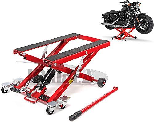 JOMAFA ELEVADOR HIDRAULICO MOTOS Y QUADS/ATV 500KG PLATAFORMA DE ELEVACION PARA MOTOCICLETAS