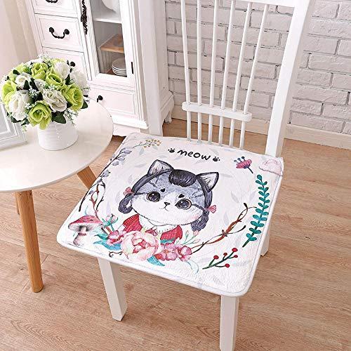 WANINE Büro sitzende Stuhl Kissen Hocker Pad Furz Pad Student Schlafsaal Arsch kleine Sitzbank Pad Bodenkissen-50X50cm_Kawa