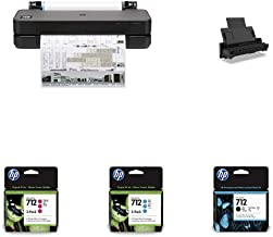 """HP DesignJet T210 Large Format Compact Wireless Plotter Printer - 24"""" (8AG32A), with Multipack and High-Capacity Genuine I..."""