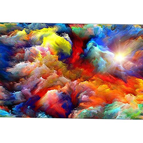 Yminng 5D DIY Diamond Embroidery Abstract Psychedelic Nebula Space Cloud,Diamond Painting Cross Stitch 3D Diamond Mosaic Drill Decor - Round Drill,40x50cm