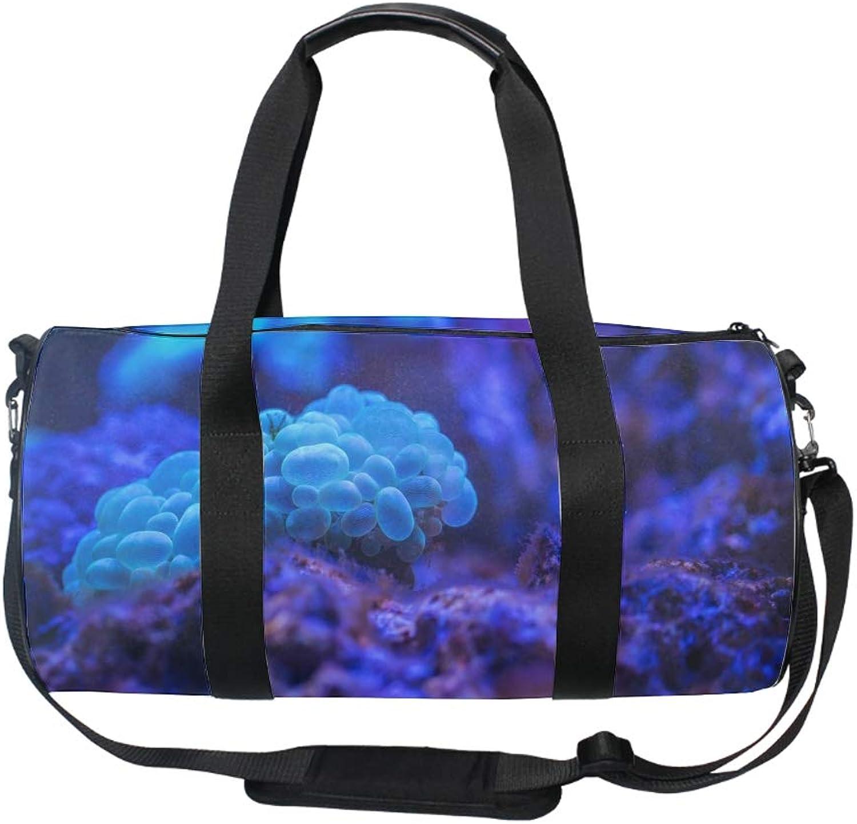 17  Blank Sports Duffle Bag Nice Sea Animal Gym Bag Travel Duffel with Adjustable Strap