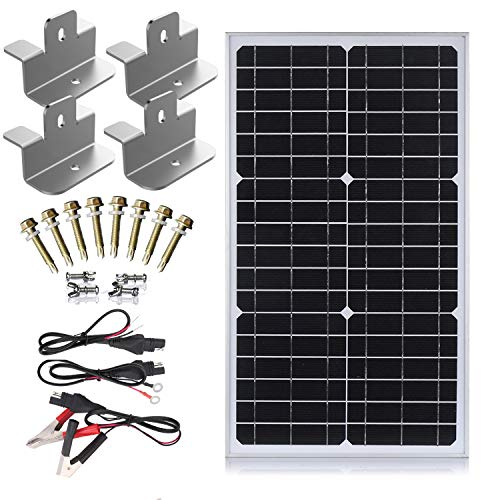 SUNER POWER 12V Waterproof Solar Battery Trickle Charger & Maintainer - 30...