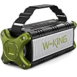 Altavoces Bluetooth 50W(70W Pico), W-KING Altavoces Inalámbricos con 8000mAh Batería Power bank, Exterior Portátiles IPX6 Impermeable, TWS, Rich Bass, TWS con NFC Tarjeta TF