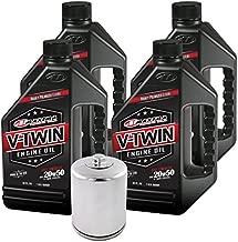 MaximaHiflofiltro VTEOCK15 Full Synthetic Engine Oil Change Kit for Harley Davidson Twin Cam V-Twin