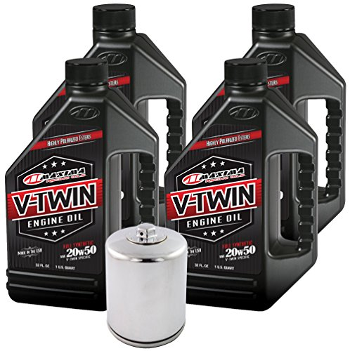MaximaHiflofiltro VTEOCK15 Full Synthetic Engine Oil Change Kit for Harley Davidson Twin Cam V-Twin