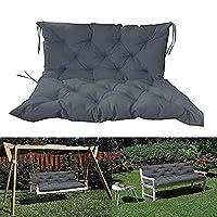 2-3相手厚手ベンチクッションガーデンスイングパッド8cm超厚手屋外パティオ家具リクライニング業者、抗UV のための庭のベンチクッション, dark gray-150*50*50 cm