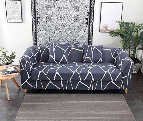 INFANDW Schonbezug Sofahusse, Stretch-Stoff, Couch-Bezug, Sofa-Möbelschutz, kompletter Bezug maschinenwaschbar(Blau, 2 Sitzer: 145-185cm)