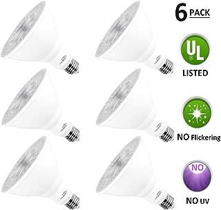Par38 LED Bulbs, Tanbridge Dimmable Indoor and Outdoor, LED Flood Light Bulb, 18W (180W Equivalent), E26 Base, 5000K Daylight, 60° Beam Degrees, Par38, Energy Star (6 Pack)