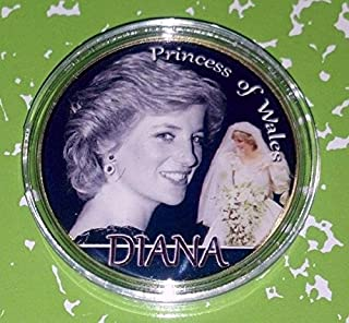 Princess Diana Colorized Challenge Art Coin