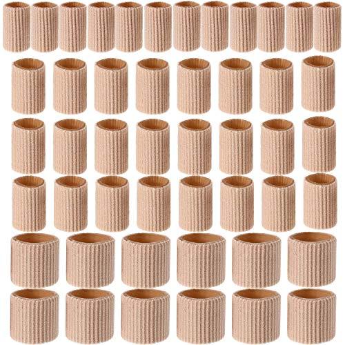 48 Pièces Tube de Coussin d'Orteil 0,98 Pouce Manchons de Tube d'Orteil Protecteurs de Coussin de Cors en Gel Doux pour Cors, 3 Tailles (Tube de Couss