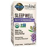 Garden of Life mykind Organics Sleep Well Rest & Refresh 30 Tablets, Lemon Balm, Green Tea Extract L-Theanine, Valerian Root, Chamomile, Probiotics-Organic Non-GMO Vegan Gluten Free Herbal Supplement