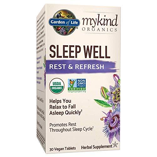Garden of Life - Mykind Organics Sleep Well Rest & Refresh Formula - 30 Tabletas de Vegan