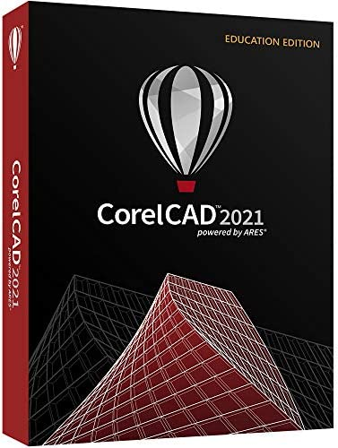 CorelCAD 2021 Education Edition CAD Software 2D Drafting 3D Design 3D Printing PC Mac Disc product image