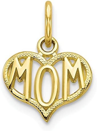 10k Yellow Gold Mom Pendant Charm Necklace Special Person Fine Jewelry For Women Gifts For Her product image