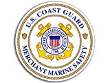 Round Merchant Marine Safety Sticker (us Coast Guard Logo Insignia Emblem)