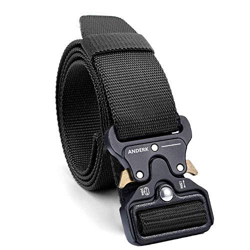 ANDERK Cintura Tattica con Fibbia Cobra Cintura Resistente di Salvataggio per Sport e Caccia All'aria Aperta Cintura Militare