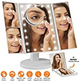 Imperio Home Tri-fold light mirror illuminated makeup mirror touch screen magnification vanity cosmetic