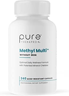 Methyl Multi Without Iron - 240 Vegetable Capsules | This Vegan Formula Features Activated Vitamin Cofactors and Folate as...