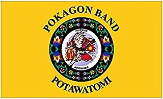 POKAGON BAND of POTAWATOMI Tribe Sticker (seal logo flag native)- Sticker Graphic Decal