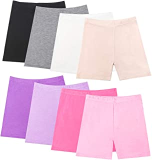Hollhoff 8 Mixed Color Girls Dance Shorts, Bike Shorts for Playgrounds and Gymnastics, Breathable and Safe Active Shorts
