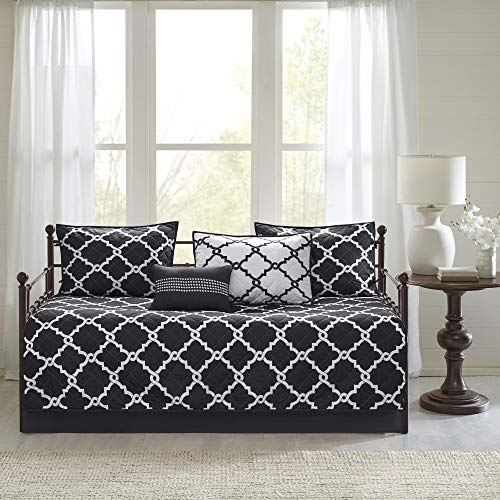 Madison Park Essentials Merritt Coverlet&BEDSPR, Daybed, Black