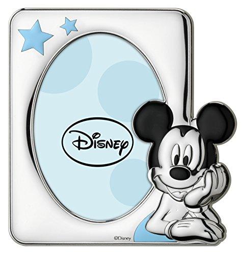 Disney Baby Mickey Mouse – Cadre photo en argent pour table ou table de chevet pour chambre d'enfant avec détails colorés