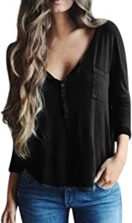 Sayhi Hot Sales Women V-Neck Blouse,Autumn Casual Long Sleeve Tops Fashion Girls Shirt