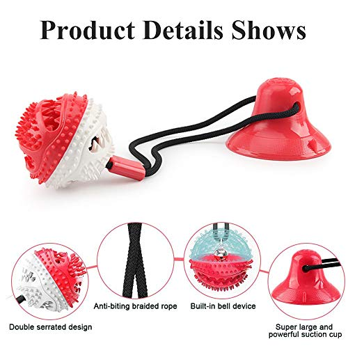 Product Image 3: Suction Cup Dog Chew Toys for Aggressive Chewers. Interactive Rope Tug Toy with Food Dispensing Ball.