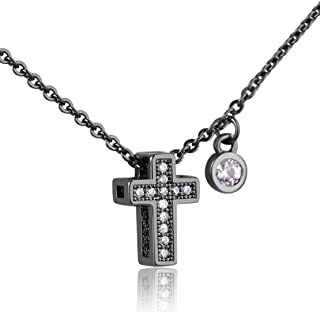 Karseer Tiny Cross Pendant with Holy Spirit Fruit Charm Necklace Fashion CZ Crystal Christian Religious Jewelry Gift for Woman Girl